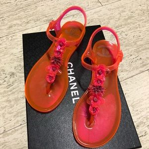 Chanel Jelly Sandals Size 37